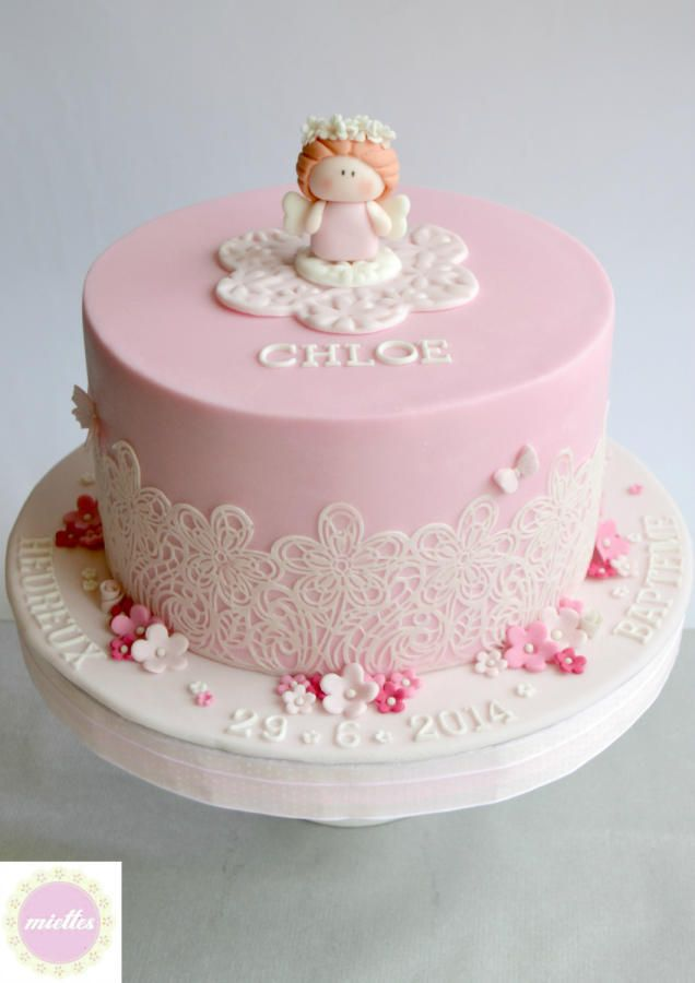 White & Pink Angelic Christening
