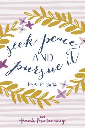 French Press Mornings - Psalm 34:14 #encouragingwednesdays #fcwednesdaywisdom #quotes