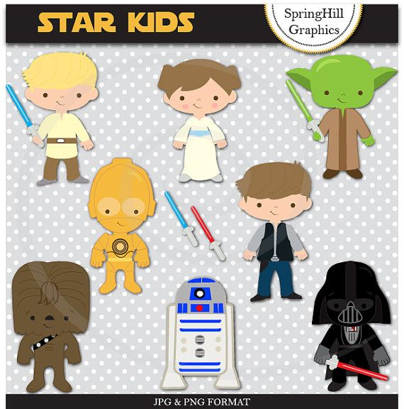 Instant Download Star Wars Digital Clip Art Web Design, Card Making, Scrapbooking, Kawaii - Personal and Commerical Use