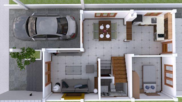 Interior Design Plan 7x15m Walk Through With Full Plan 4beds House Plan Map Interior Design Plan Small House Design Plans Home Design Plans