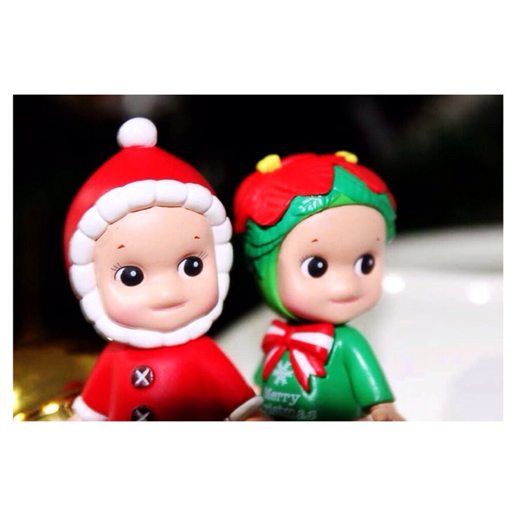 Merry Christmas and happy new year . Santa clause and Christmas tree Sonny angel
