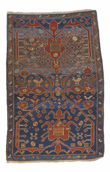 Caucasian-Avar-rug  around 1890, ghiordes-knot, slightly worn 171*102 cm