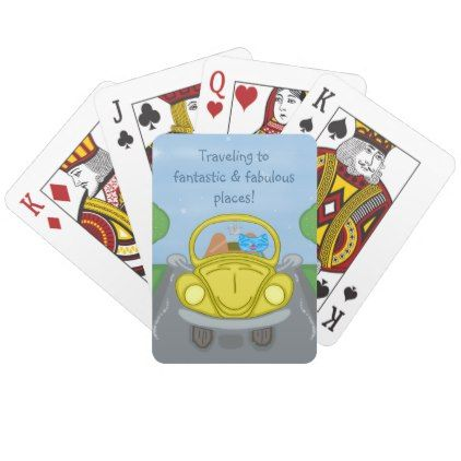 Milo Drives An Easter Bug Car Playing Cards - animal gift ideas animals and pets diy customize
