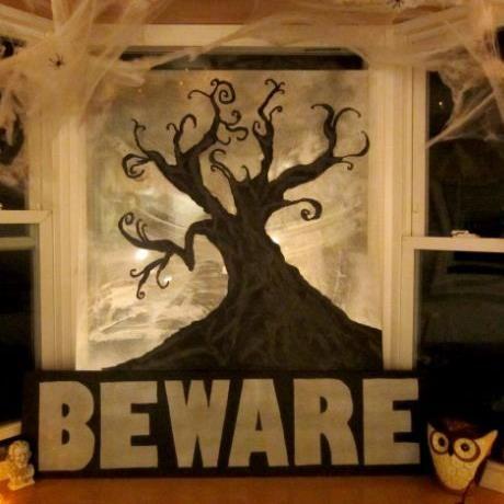 homemade halloween window decorations
