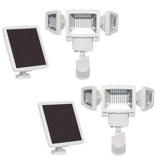 Westinghouse 120 Degree 2000 Lumen White Solar Integrated Led Motion Activated Flood Light With Timer Lowes Com In 2020 Westinghouse Flood Lights Solar Security Light