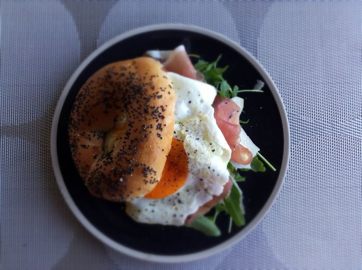 Jump on our facebook for the ingredients of this delish bagel! Bistro dinnerware and Circle placements
