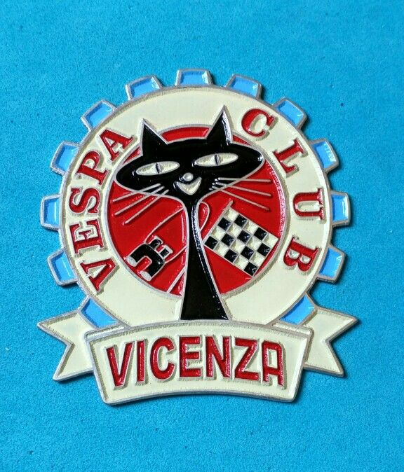 Badge Placca Plakette Vespa Club Vicenza