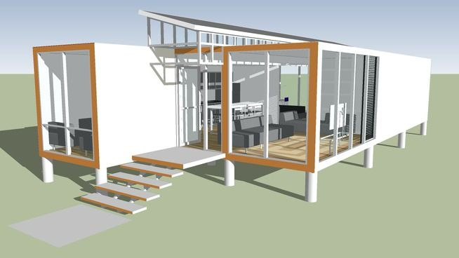 Large preview of 3D Model of container house