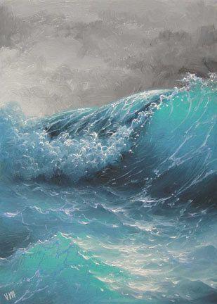 26  The Wave  8x 10 original canvas giclee by vladimirmesheryakov, $15.99