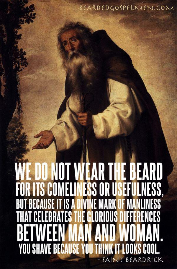 Masturbation thoughts of having a beard