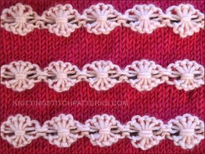 How to knit: Flower in a Row