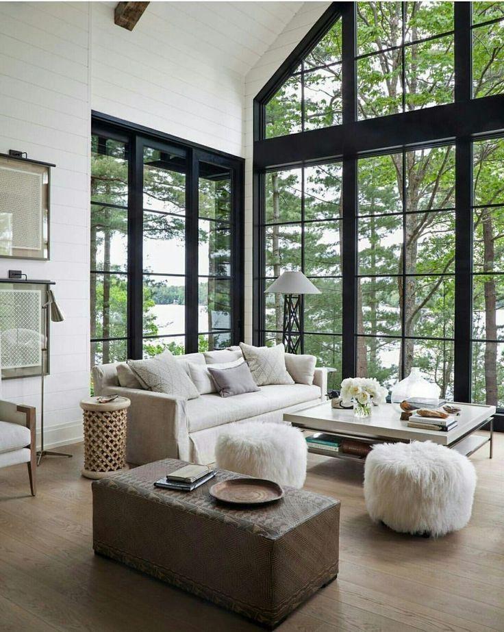 38 Beautiful Lake House Decorating Ideas Homiku Com Modern Lake House Winter Living Room Lakehouse Decor