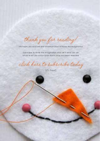 a handmade christmas. tons of cute ideas!! Love the snowman face as