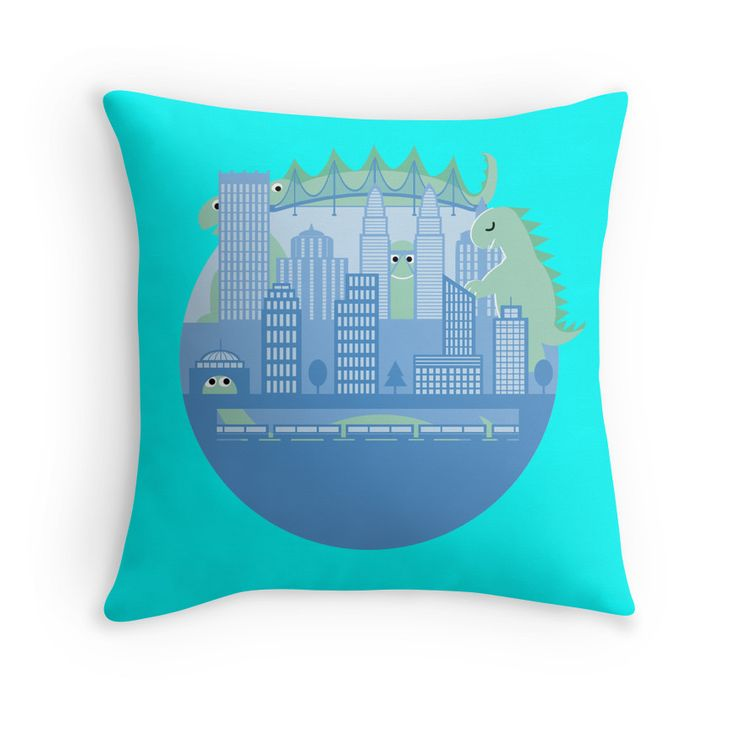 """""""Hide and Seek"""" on Throw Pillow"""