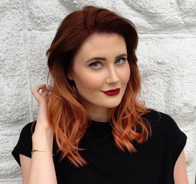copper balayage ideas