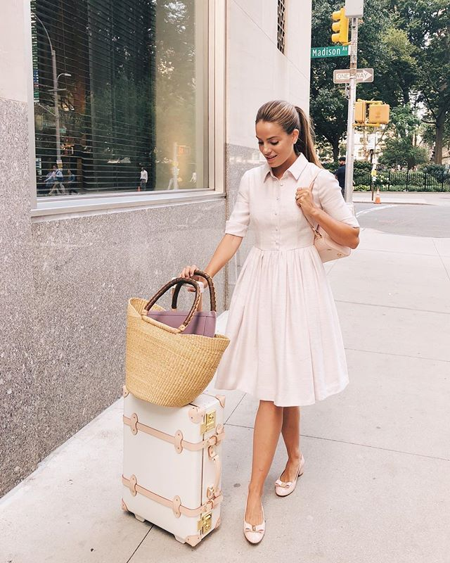 68078a8aad I love being in NYC with our  galmeetsglam team! Wore the Beatrice dress  into the office last week More of my favorite blush pieces for fall over on  ...