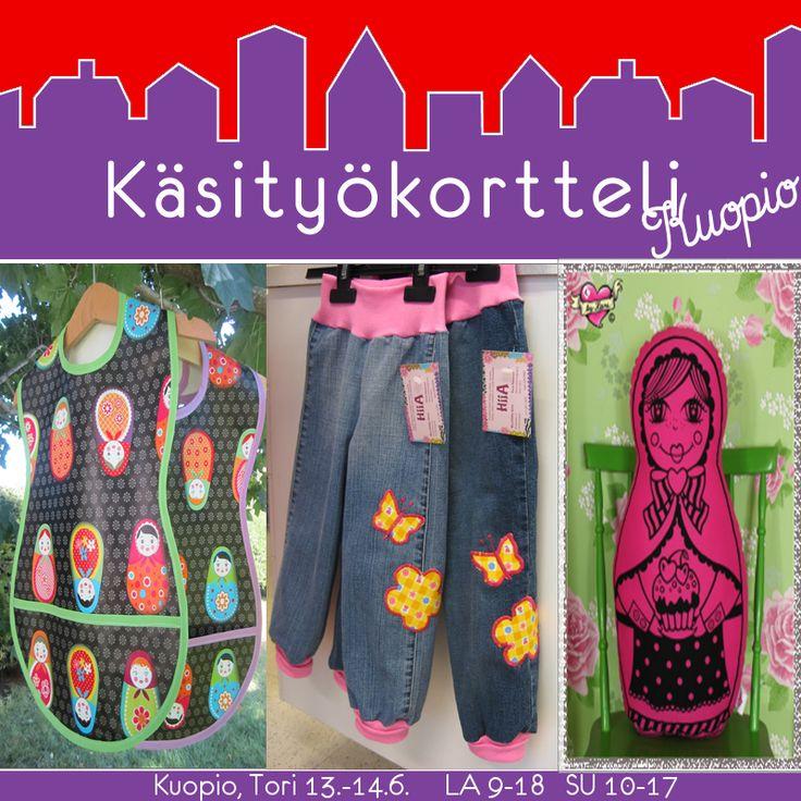 Käsityökortteli Kuopio 13.-14.6. https://www.facebook.com/events/1564704223787904/