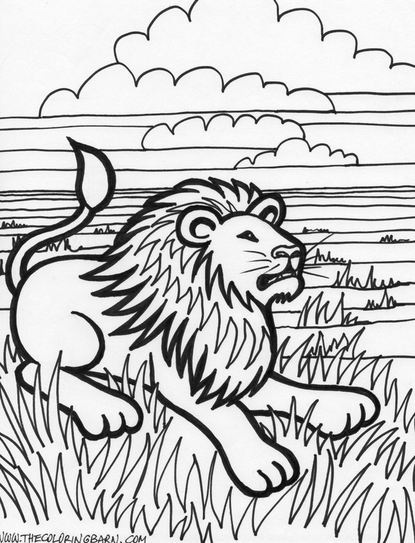 lion drinking water coloring pages   Lion craft-and-art-ideas-and-cool-ideas   Food and Drink ...