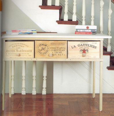 Reminds me of floor to ceiling wine crate drawers I saw in a magazine five years ago... where did I put that cutting?