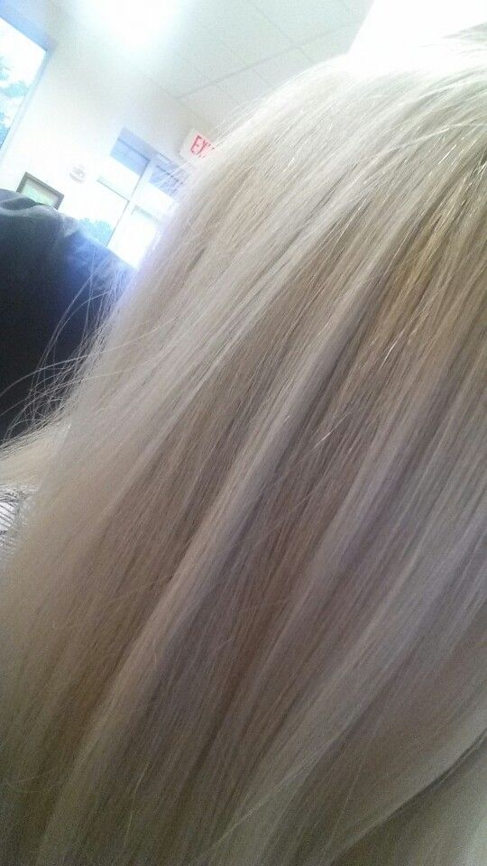 Results Of Bleach Then A Mixture Of Wella T18 And T11