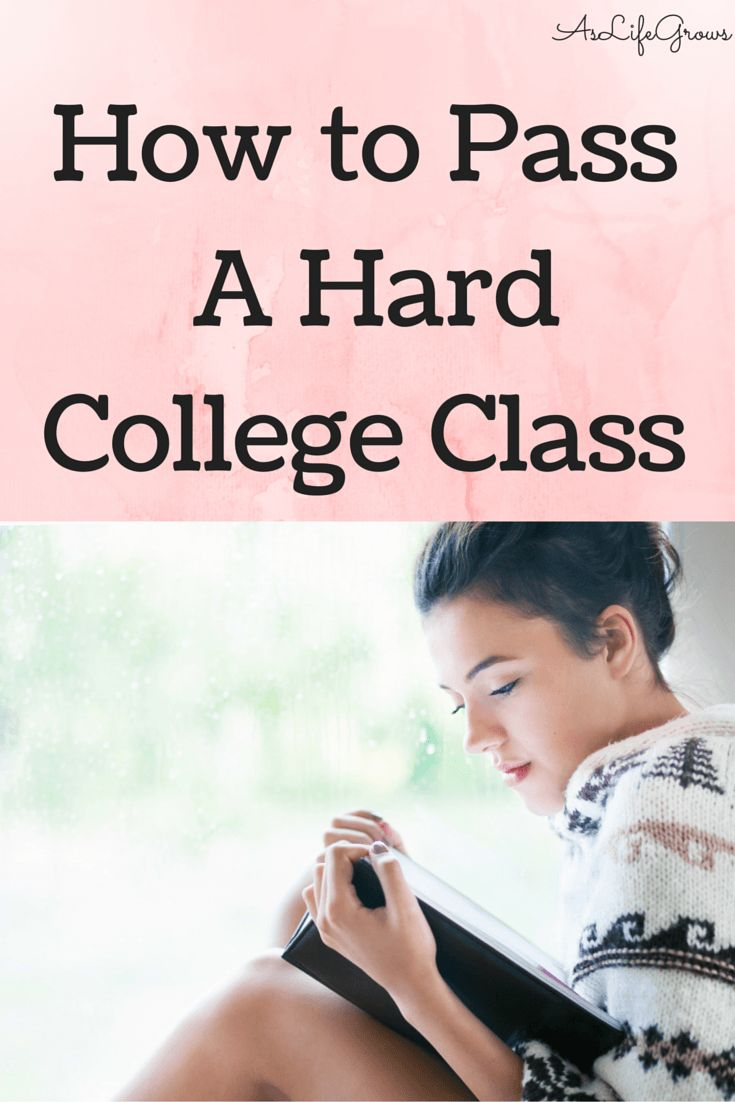 Do you have a college class that is really hard? Have no clue how you're going to pass it? It is possible! Check this out!