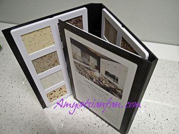 Tsianfan plastic stone sample display folder