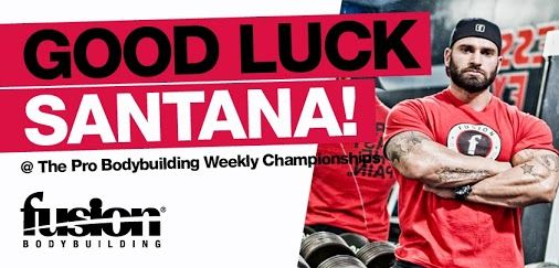 We're wishing FUSION BODYBUILDING athlete Santana Anderson the best of luck as he steps on stage this weekend at the Pro Bodybuilding Weekly Championships in Tampa.
