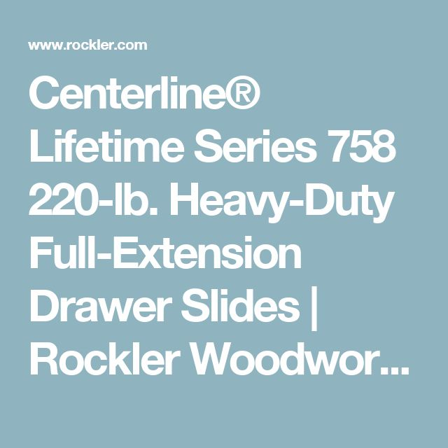 Best 20 Heavy Duty Drawer Slides Ideas On Pinterest