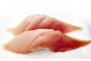 Hamachi (young yellowtail) - Types of Nigiri Sushi