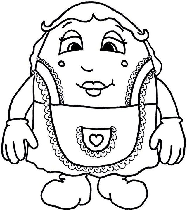Pin by Colorists Lover on Humpty Dumpty Coloring Pages