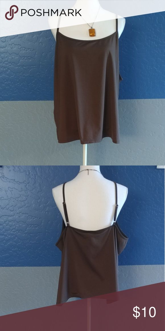 "NWOT Lane Bryant Plus Size 22/24 Beautiful Brown Cami Top Sleeveless (Adjustable) 50"" Bust 24"" Length Polyester Spandex Bundle and Save Lane Bryant Tops Camisoles"