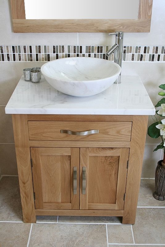 White Marble Top Stone Basin Choice 502wmsbc Oak