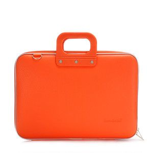 Classic Bombata Orange, $42, now featured on Fab. I have this and LOVE IT.  Looks like leather.