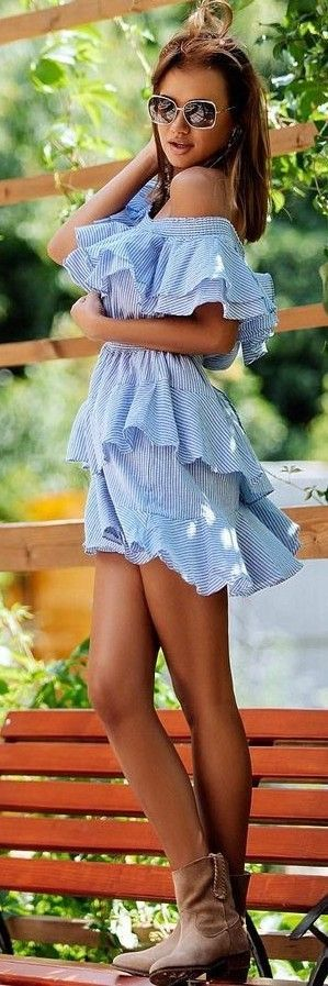 #summer #stripes #style  |  Striped Playsuit