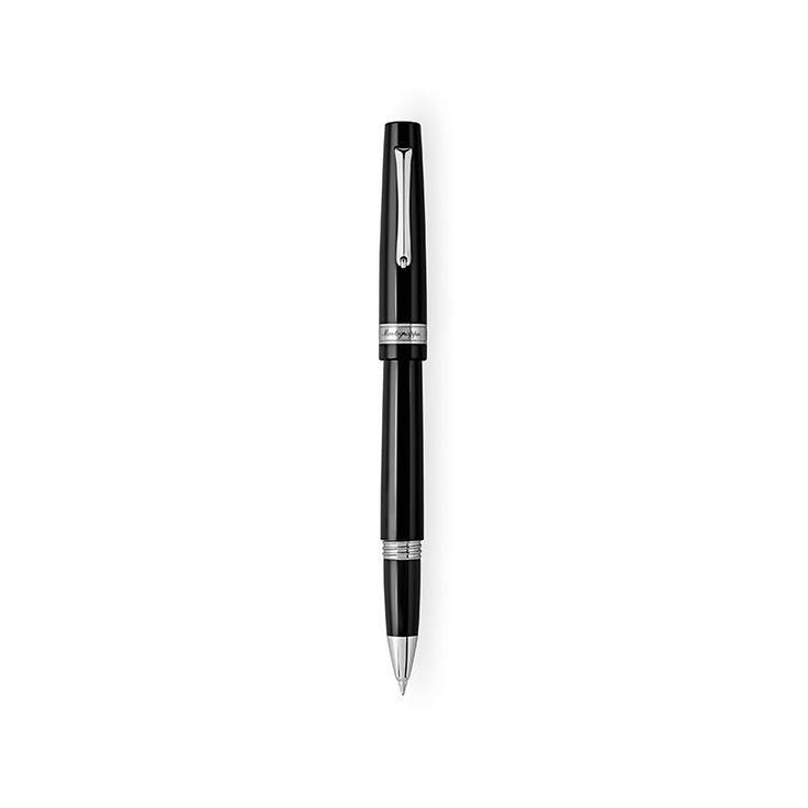 Μαύρος στυλογράφος Montegrappa Armonia με βιδωτό καπάκι από μαύρη ρητίνη και ατσάλι | Στυλό Montegrappa ΤΣΑΛΔΑΡΗΣ Online και στο Χαλάνδρι #armonia #rollerball #montegrappa #στυλογραφοι #tsaldaris