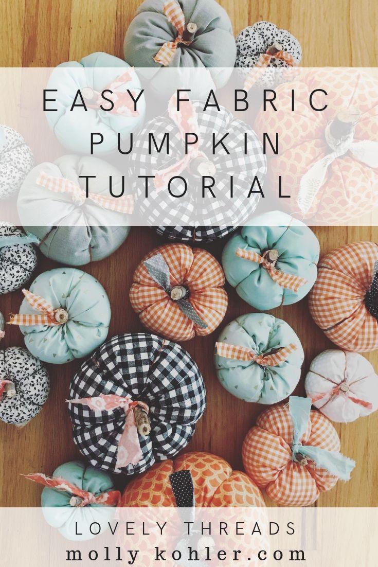 Deco D Automne Facile easy fabric pumpkin tutorial pinterest image   bricolage d