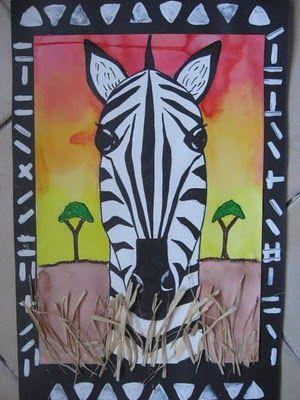 Zebra safari portrait-Africa 4th grade