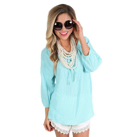 Bermuda Bound Top | Impressions Online Women's Clothing Boutique  This sweet top with the fun pattern was made for sipping lemonade and sweet tea by the pool!