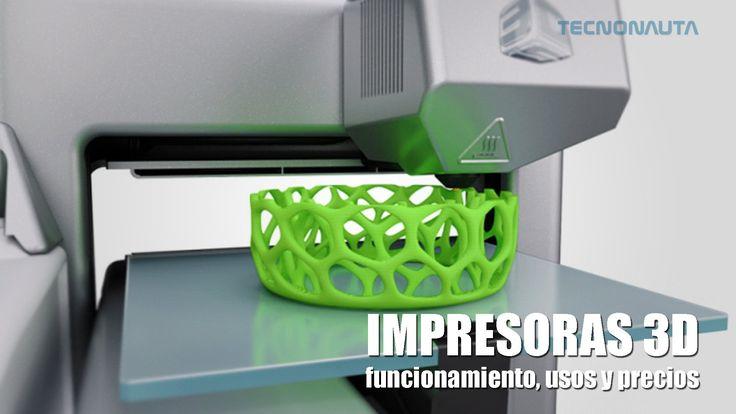 Todo sobre las impresoras 3D. Te explicaremos que son, como funcionan y sus utilidades ahora y en un futuro cercano.