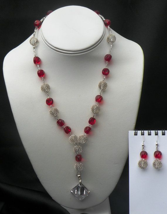 Jubilee Extravaganza Beaded Necklace & Earring by EyeCantHearYou, $50.00