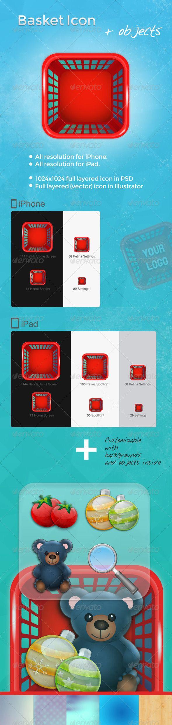GraphicRiver Basket iOS App Icon 4405212