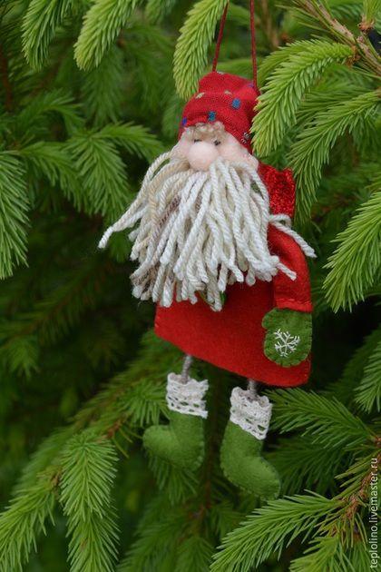 Купить Дед Мороз, Елочная игрушка, Подарок - дед мороз, елочные украшения, елочные игрушки
