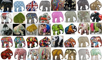 elephant on Parade - some More! <3: Painted Elephants, Elephant Art, Elephant Parade 2, Button Parade, Elephant Fever, Elephants Pushed, Art Ideas, Parade Art, Elephant Horse Cow Parade