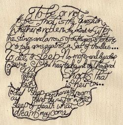 Writer Shakespeare Hamlet To Be or Not to Be  by EmbroideredbySue, $12.99