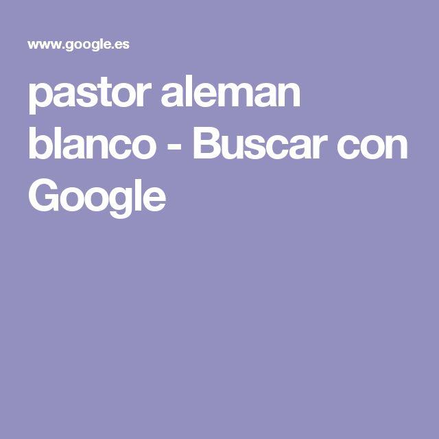 pastor aleman blanco - Buscar con Google