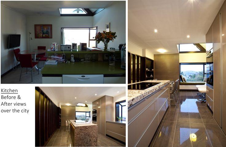 design arc Limited | Before & After Shot of Kitchen | Highly Commended 2014 ADNZ / Resene Regional Architectural Design Awards