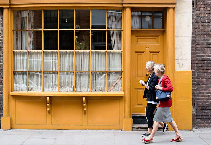 Exploring London villages: Bermondsey Street near London Bridge.