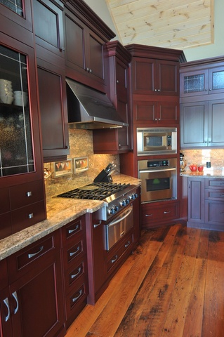 1000 images about hemlock on pinterest for Cherry bordeaux kitchen cabinets