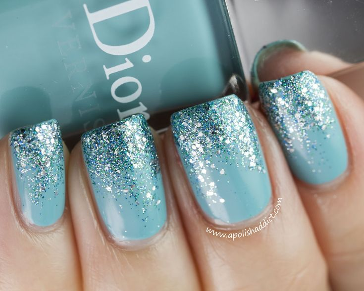 Blue sparkle. LOVE LOVEE!: Glitter Nail, Nail Polish, Nailart, Blue, Nail Designs, Makeup, Nails, Nail Ideas, Nail Art