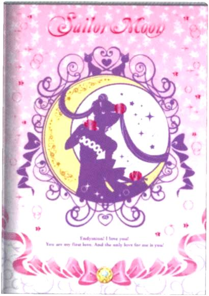Official pink and white Sailor Moon notebook pen! http://www.moonkitty.net/reviews-buy-sailor-moon-stationary-books-bags.php #SailorMoon